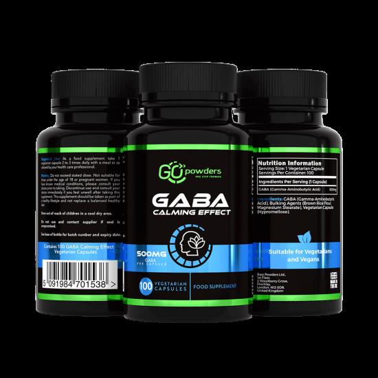 Go Powders Gaba lugnande effekt 500 mg. 100 kapslar