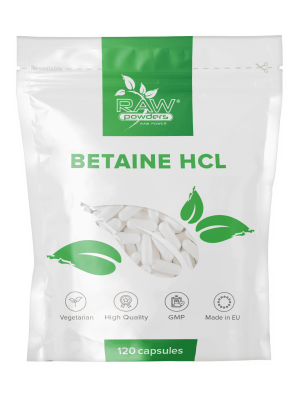 Betain HCL 650 mg. 120 kapslar